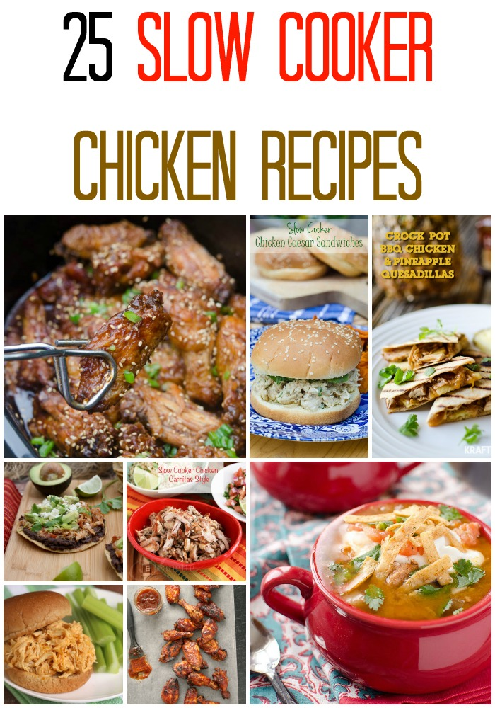 25 crockpot chicken recipes rock and drool