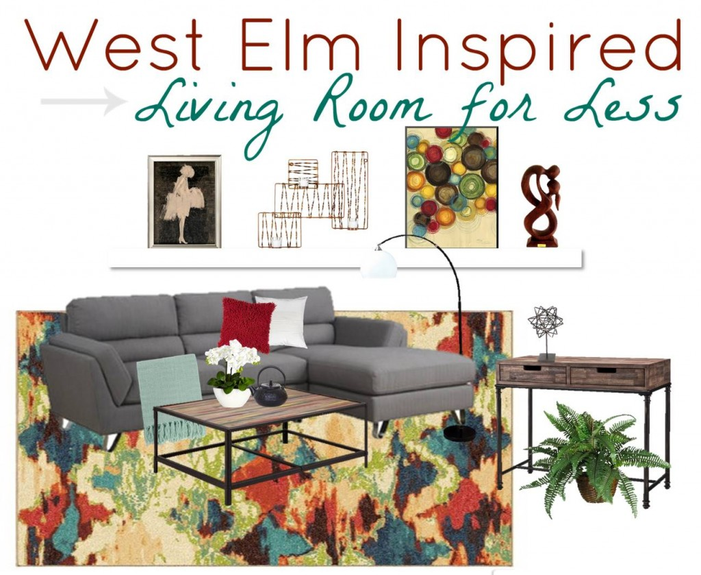 West Elm Inspired Living Room For Less - ROCK AND DROOL | ROCK AND DROOL