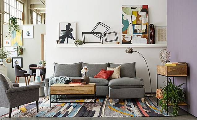 Great West Elm Inspired Living Room For Less   ROCK AND DROOL | ROCK AND DROOL